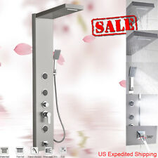 Stainless Steel Shower Panel Column Tower Shower System Faucet Rain Head Jets