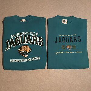 Vintage Jacksonville Jaguars Lot of 2 Lee Sport/ Nutmeg Teal Sweatshirts Large L