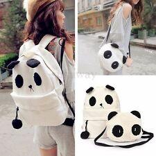 Cute Fashion Women Panda Backpack Schoolbag Satchel Shoulder Bag Bookbag Set
