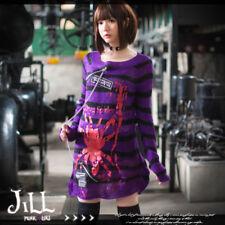 Punk visual Kei cosplay Death Note Amane Misa unisex stripe sweater JJ0015 PU