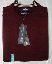 M&S Blue Harbour Extra Fine Pure Lambswool Claret Large Crew Neck Jumper, BNWT