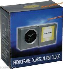 REVEIL de voyage avec alarme & cadre porte-photo NEUFS alarm clock set NEW inbox
