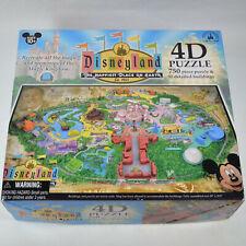 4D Disney land Park Jigsaw Puzzle 3D 750 pieces 50 buildings Rare All Pieces