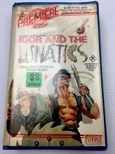 Igor and The Lunatics - VHS Video Cassette Tape PAL Clamshell Ex-rental R Horror