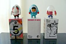 "SET OF 3 QEE   Toy2R Mini Figure  Qee 2"""