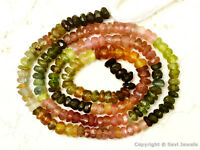 """Tourmaline 3-3.5mm Faceted Rondelle Gemstone Beads 13"""" Strand - Pick-A-Lot"""