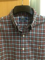 Polo Ralph Lauren Men's Red Check Long Sleeve Casual Slim Fit Shirt Size 15.5