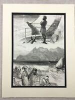 1875 Print The Sultan of Zanzibar Barghash bin Said India Antique Original