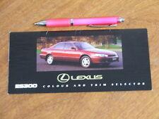 1993 Lexus ES300 original Australian Colour and Trim Selector