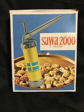 Vintage Sawa 2000 Deluxe Sweden Cookie Press Decorator Instruction Book Orig Box
