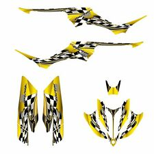 Yamaha Raptor 350 graphics racing decal kit #2500 Yellow Free Custom Service