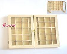 SCATOLA BACHECA 35 scomparti in legno e vetro per decoupage contenitore 2 Ante