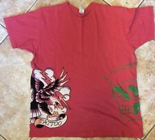 Ed Hardy Christian Audigier Tattoo Shirt Size L Made In The Usa