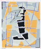Jean Deyrolle Pochoir Print Abstract Plate IX 1952 From Rare Portfolio