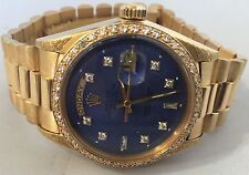 Rolex presidential Diamond Non quick 18k yellow gold swiss automatic watch