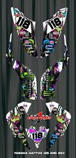 RAPTOR 125 250 250R YAMAHA  SEMI CUSTOM GRAPHICS KIT VICTORIA SKULLS