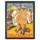 Political Propaganda Military Enlist British Army Colonial Uk Framed Art Print
