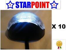 LED SIDE LIGHTS X 10 WHITE 12v 24v CLEARANCE LIGHTS TRUCK TRAILER