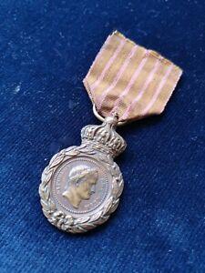FRANCE MÉDAILLE DE SAINTE HÉLÈNE FINITION BIJOUTIER EMPIRE NAPOLÉON 1er XIXème
