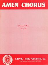 AMEN CHORUS Music Sheet-1959-VEP ELLIS-CHRISTIAN/GOSPEL/SACRED/RELIGIOUS
