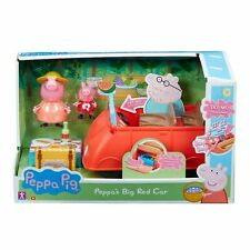 Peppa's Big Red Car with Picnic Accessories Playset 2 Figures Christmas Toys
