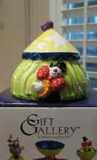 "Fitz & Floyd Gift Gallery ""Clowning Around Collection"" Tent Lidded Box ~ Nib"