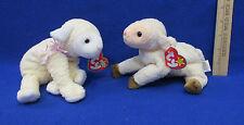 Ty Beanie Babies Plush Original Stuffed Animal 1998 Ewey 2000 Fleecie Lot 2