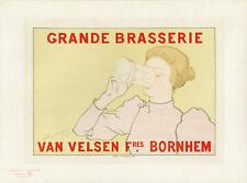 """GRANDE BRASSERIE VAN VELSEN"" Litho Maîtres de l'Affiche  A. RASSENFOSSE 1894"