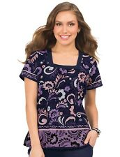 {XXS} Koi Medical Uniform Scrub Top Vanessa Penny Lane Purple Scrub