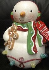 NWT Hallmark 2010 Season's Treatings Musical Snowman Gumdrops Lights and Sound