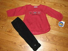 NEW San Francisco 49ers Toddler Girls Fleece Outfit Shirt Pants Size 4T 4 T