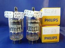 Matched Pair ECC83 Philips # NIB # DISC-Getter # 1,66mA (1,20mA=100%)(10095)