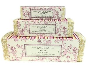 Lollia Relax Handcreme Set Lavender Honey Shea Butter Macadamia Nut
