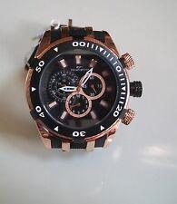 Designer Big Heavy Black/Rose Gold Finish Rubber Band Fashion Inspired Watch