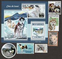SIBERIAN HUSKY ** Int'l Dog Postage Stamp Art ** Great Gift Idea **