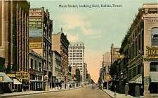 Texas, TX, Dallas, Main Street Looking East Early Postcard