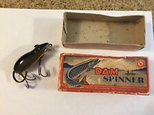 Rare DAM Germany Wood Mouse W/ Leather Ears - Tail / Beady Eyes - BOX / Superb !