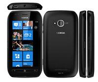 "Unlocked Original Nokia Lumia 710 8GB 3.7"" Windows 7.5 Smartphone Black"