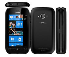"Unlocked Original Nokia Lumia 710 8GB 3.7"" Windows 7.5 Smartphone Black"