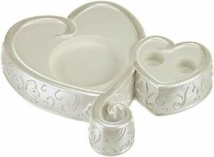 Wilton Wedding Unity Candle Holder Heart Scroll Motif Brand New