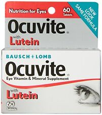 Bausch & Lomb Ocuvite Eye Vitamin & Mineral Supplement with Lutein 60 Each