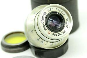 Vintage Rare Early INDUSTAR-22 3.5/50 M39 L39 Screw Zorki Leica Elmar copy SPT35