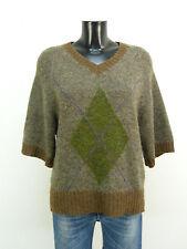 Hoss suéter talla S/marrón-gris & con mohair + como nuevo (m 8524 F S)