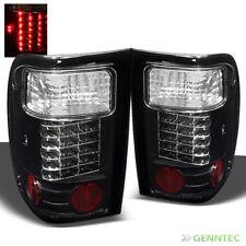 For 2001-2005 Ford Ranger LED Black Tail Lights Rear Brake Lamp Pair Set L+R