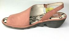 Palp Cupido Rose Leather Slingback Sandals 6.5 Fly London Womens Size 37