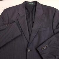 Ralph Lauren LRL Wool Sport Coat Jacket Men's 42R Charcoal Gray Striped 2 Button