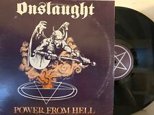 Onslaught – Power From Hell LP 1985  Pusmort ‎– PUSMORT 0012-05 Thrash Metal VG+