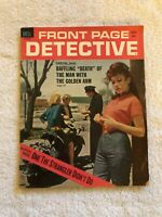 Vintage August 1963 FRONT PAGE DETECTIVE Magazine Motorcycle Robert Scott Cover