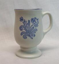 Pfaltzgraff Yorktowne Pedestal Footed Coffee Mug Cup Latte Blue Motif Gray