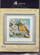 Alisa Counted Cross Stitch Kit Robin 1-20 Sealed New